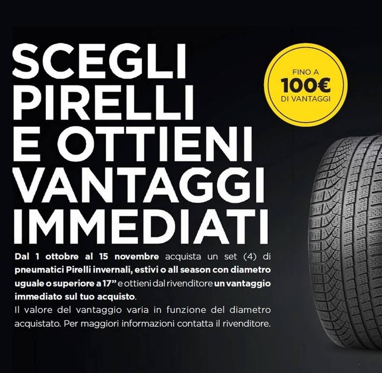 Scegli Pirelli e ottieni vantaggi immediati