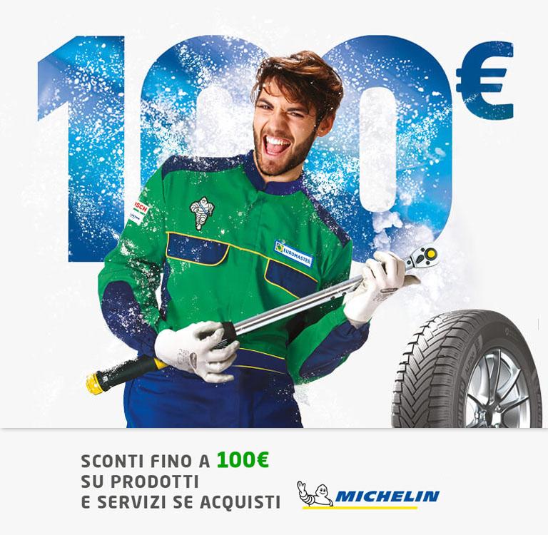 Sconti fino a 100€ su prodotti e servizi se acquisti Michelin